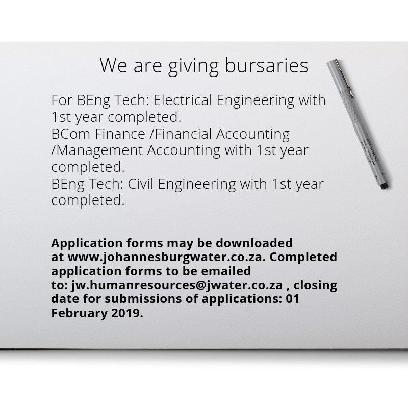 city of joburg bursaries