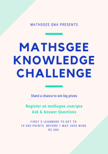 MathsGee knowledge challenge